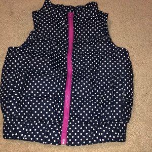 OshKosh B'gosh Jackets & Coats - Navy and pink puffer vest.